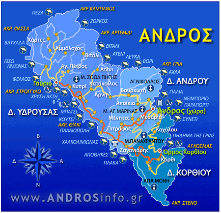 Andros paralies-map